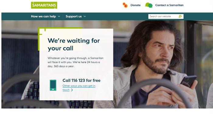 6 Samaritans homepage
