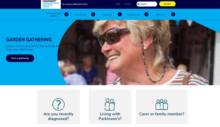 19 Parkinsons UK homepage