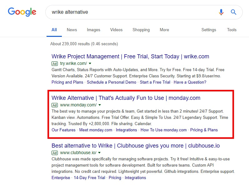 Nine B2B companies using clever PPC copy to target