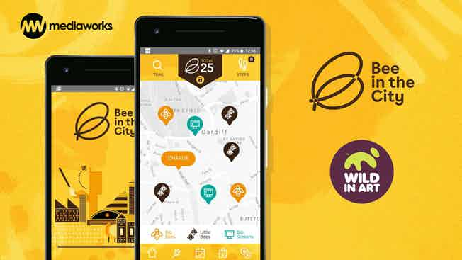 Bee In The City app screen