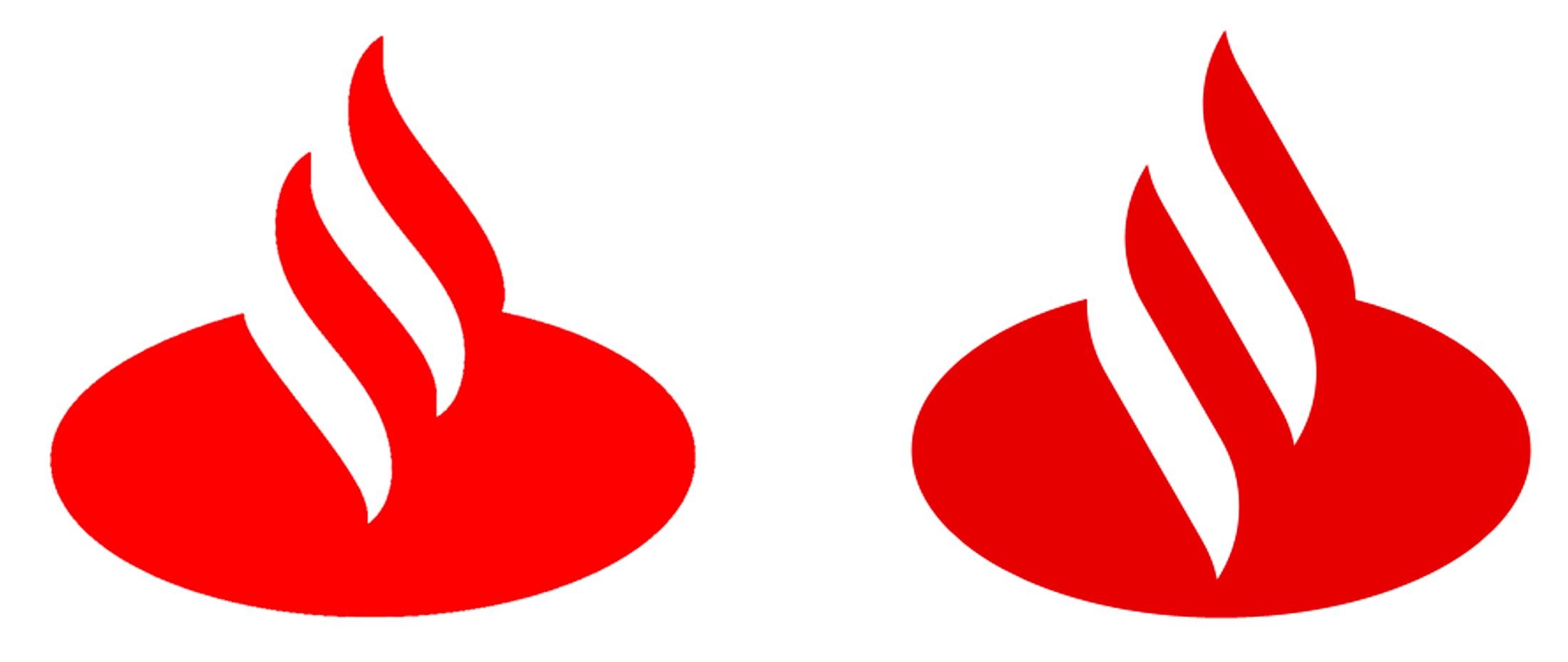 old vs new santander logo