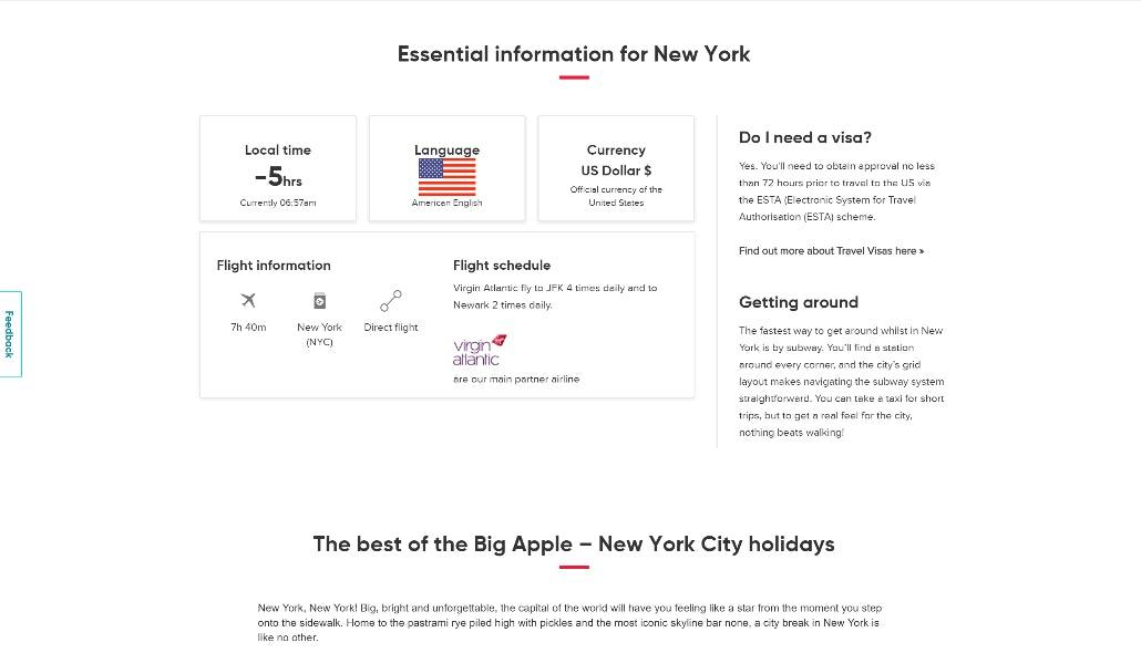 Virgin Holidays essential info