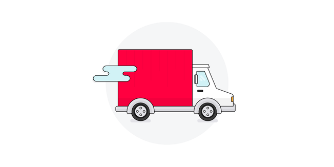 delivery van illustration