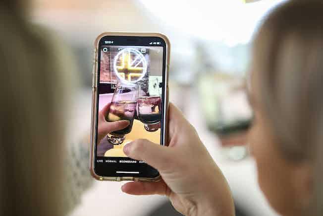 Hertz British Collection launch on phone