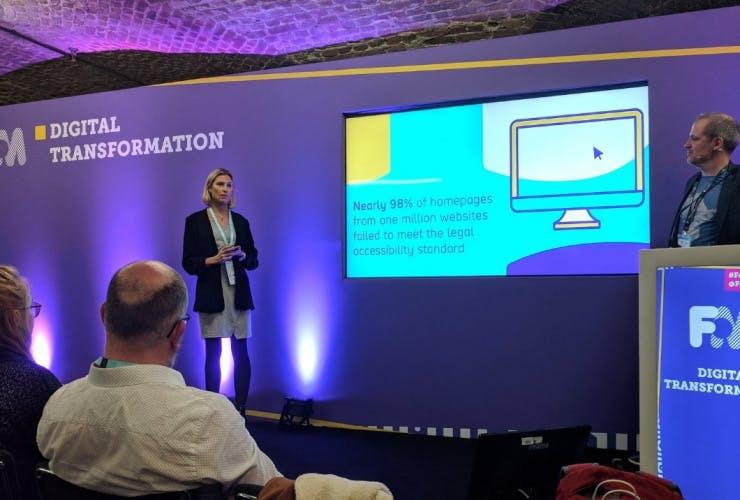 Kristina Barrick speaking at the Festival of Marketing