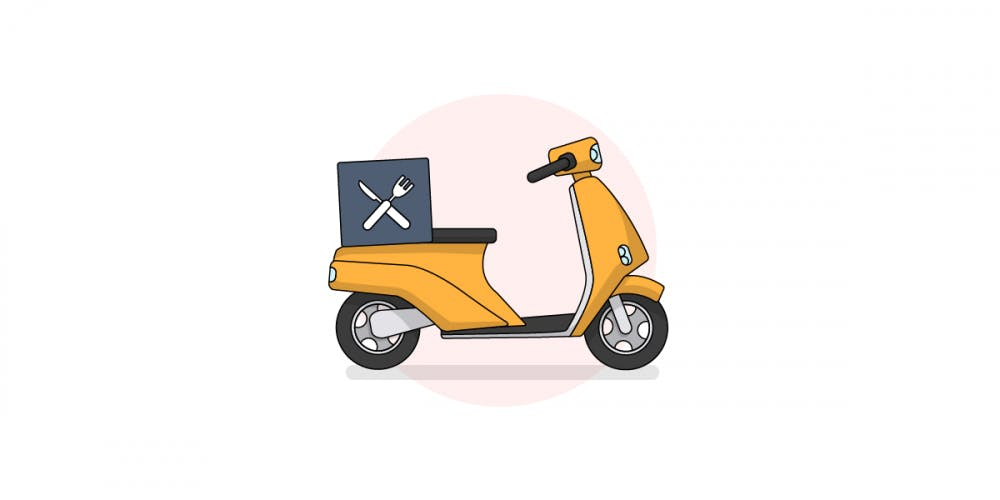 takeaway and food delivery scooter