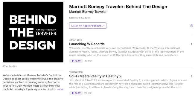 marriott podcast
