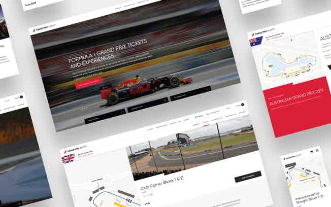 Grand Prix Events webpages