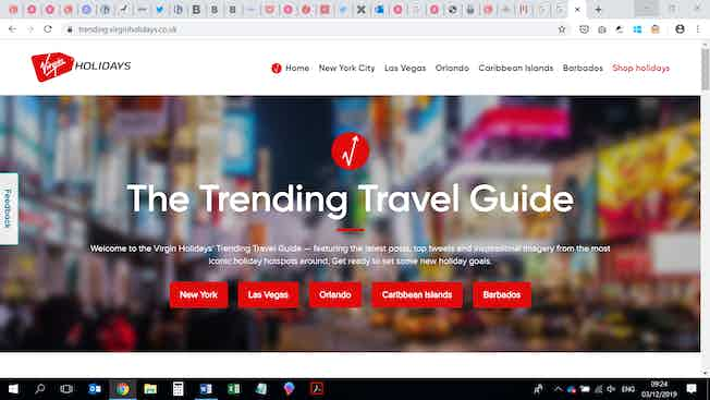 Virgin Holidays Trending Travel Guide screenshot