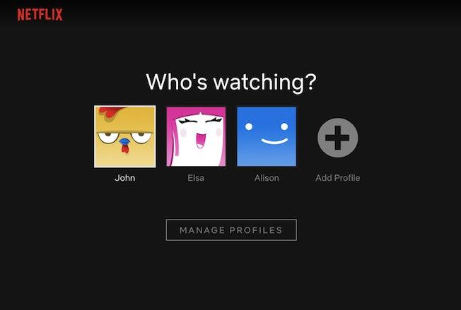 netflix manage profiles
