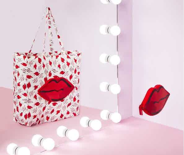 Lulu Guinness handbag and mirror