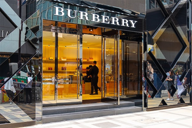 Burberry store in Hong Kong, China