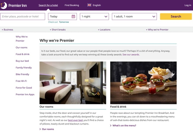 Six excellent hotel websites (and how they encourage direct booking) – Econsultancy 3