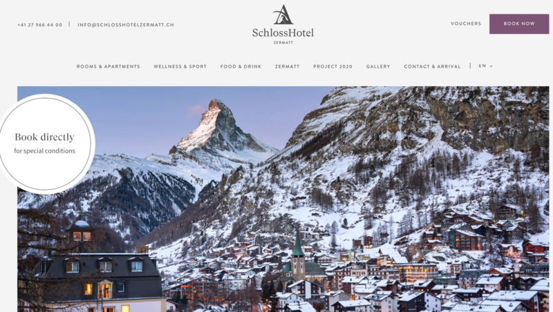 Six excellent hotel websites (and how they encourage direct booking) – Econsultancy 1