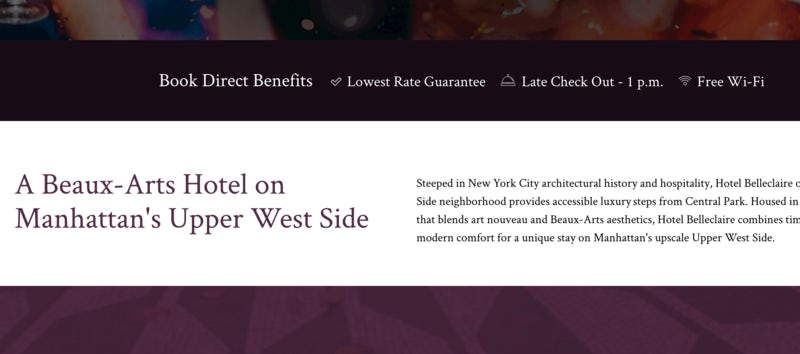 Six excellent hotel websites (and how they encourage direct booking) – Econsultancy 8
