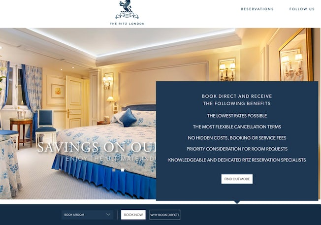 Six excellent hotel websites (and how they encourage direct booking) – Econsultancy 9
