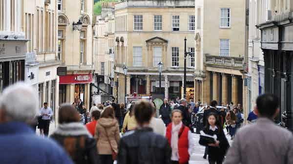 busy high street