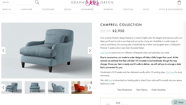 graham & green product pages