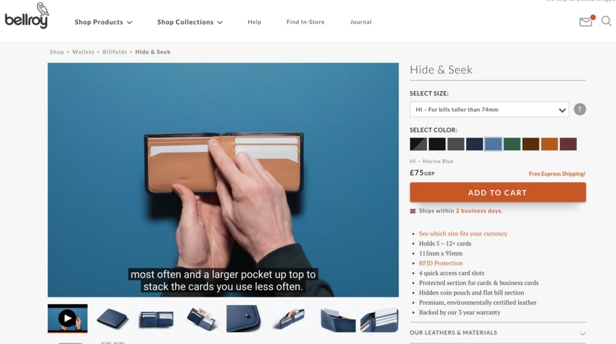 10 examples of effective ecommerce product pages | Econsultancy