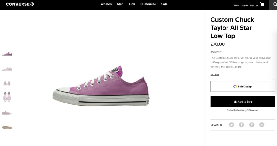 converse product pages