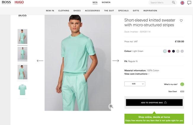 hugo boss product page