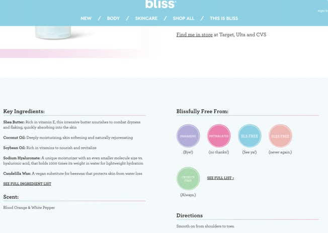 bliss products