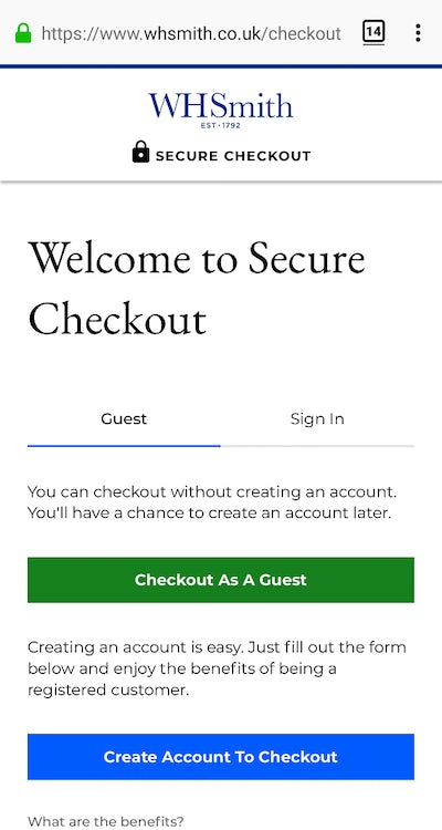 Seven excellent examples of ecommerce checkout best practice – Econsultancy 8