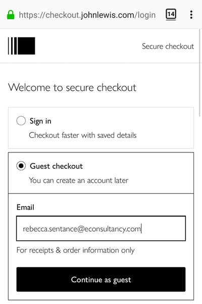 Seven excellent examples of ecommerce checkout best practice – Econsultancy 10