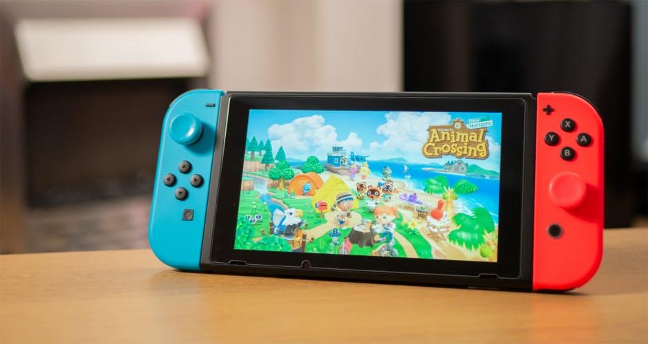 Animal Crossing New Horizons title screen on Nintendo Switch