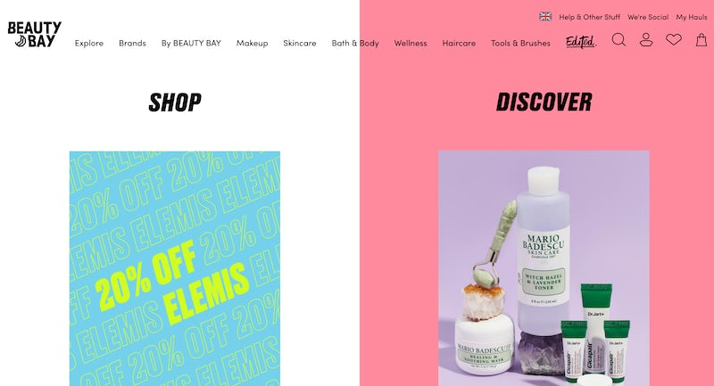 beauty bay homepage