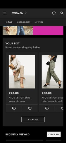 ASOS recommendations