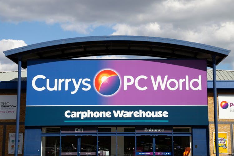 Currys PC World store. Image: freemind-production / Shutterstock.com