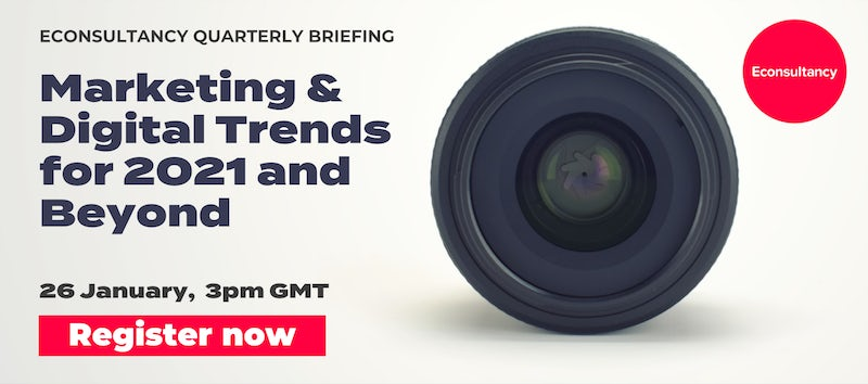 join us for our digital and marketing trends predictions. 26th january 3pm GMT, register now
