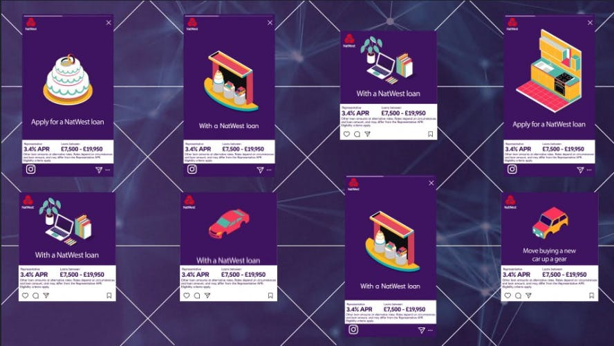 Examples of NatWest targeted loan adverts
