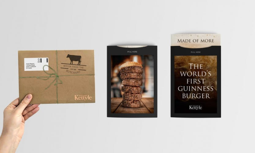 guinness burger promotional material