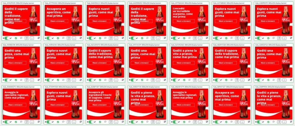 Case study Ad-Lib.io Coca-Cola advert variants