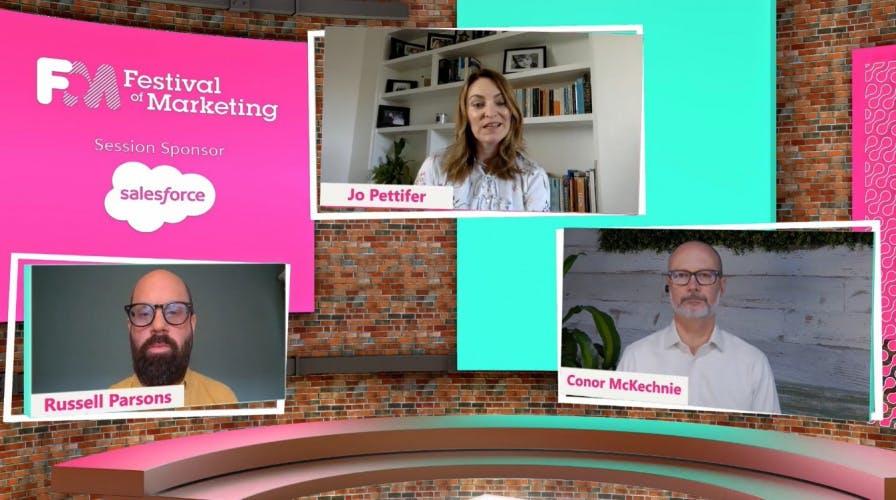 Festival of Marketing: Fast Foward. Salesforce and Cytiva panel screenshot.