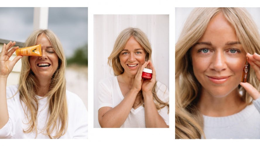 Influencer Ebba showcases Vichy beauty products