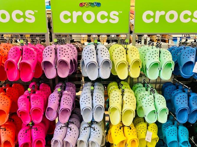 Rack of Crocs. Editorial credit: ZikG / Shutterstock.com