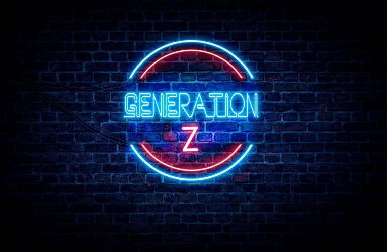 'generation x' neon sign